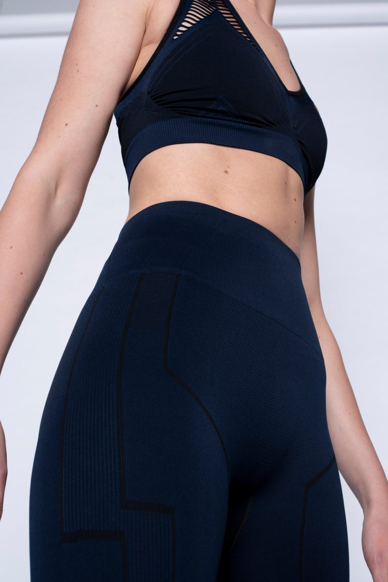 close-up of uplifting sculptured activewear legging
